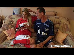 Blonde Teen Stepdaughter Deep Fucked By Her Ste...