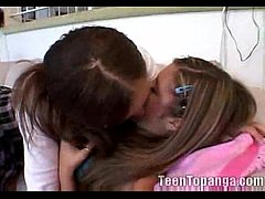 2 Teenage Try Lesbian Fucking For The First Tim...