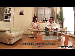 Japanese housewife, Mai Misato masturbates, unc...