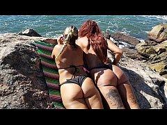Transei com minha Sogra na Praia da enseada na ...