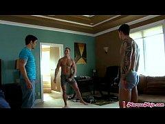 Three hot guys fucking ( 27 )