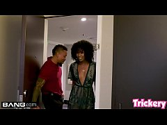 Trickery - Ebony babe Misty Stone gets fucked b...