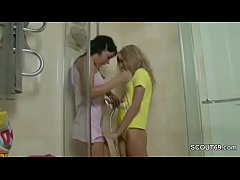 Petite Step-Sister caught Sister in Shower and ...