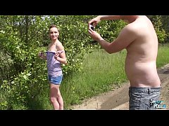 Naive beauty let older ugly dude fuck her innoc...