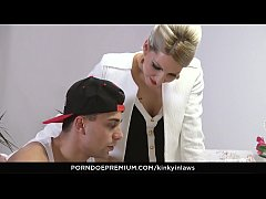 KINKY INLAWS - Stepson gets to please Czech ste...