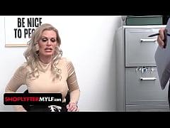 Busty shoplifter MILF Casca Akashova caught ste...