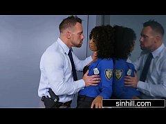 Horny Ebony Cop Wants To Fuck Not Interrogate -...