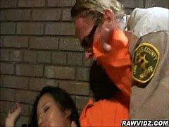 Nasty Brunette Prisoners Give Head