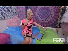 Blonde Bimbo Gets Roughed Up on Hookup Hotshot