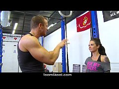 TheRealWorkout Tattooed big tits babe Christy M...