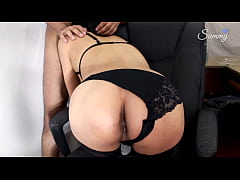 Hot Latina Intern Tasting her ass at the Office...
