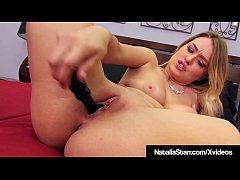 Blonde Babe Natalia Starr Dildo Fucks In Hot Bl...