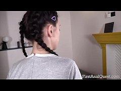 Teen newcomer Ellie Black loses her anal virginity
