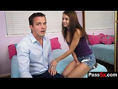 Super hot teen seduces her step dad and start s...
