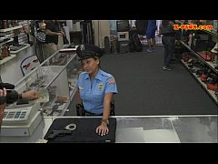 Huge boobs police officer fucked at the pawnsho...
