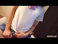 Schoolgirl Riding On Guy Cock Fucked Hard Cum T...