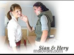 Sian And Hery barely legal teens sex in school ...