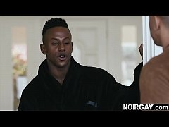 Gay escort fucks a black straight guy's anal ho...