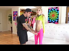 Skinny blonde teen Chanel Shortcake gets banged...