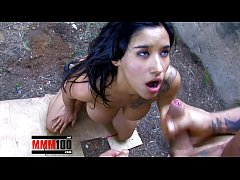Bigtits arab slut Dolce Electra banged by Muscl...