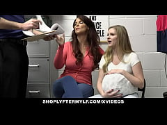 Big Titted MILF And Stepdaughter Punished By Of...