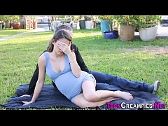 Creampied teen pounded