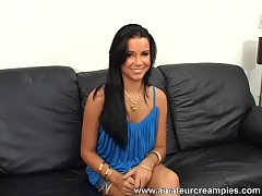 Gorgeous teen beauty Tanner gets a creampie