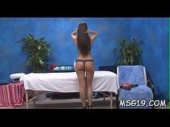 Pretty looking massage lady enjoys deep jock in...