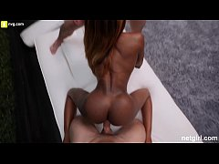Perfect Body Black Girl Orgasms Over and Over From Two Guys