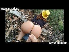 Chica b. con gran culo folla en el bosque. Nuev...