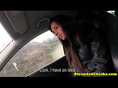 Stranded euroteen fucked in the car