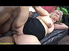 chubby 71 years old mom brutal big black cock f...