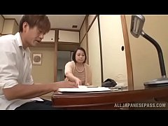Japanese mom has her huge tits groped before fu...