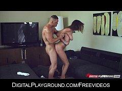 Stunning flexible brunette Holly Michaels loves...