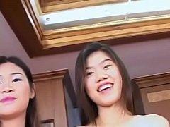 Thai girls Nam and Em interracial