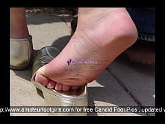 Shoeplay Dipping Candid Feet Sweaty Feet Public...