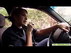 Police Officer Mercedes Carrera deep throat blo...