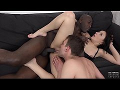 Wife fucked in front of husband enjoying his cu...