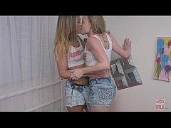 GIRLS GONE WILD - Young Lesbians Enter a Wet Ti...