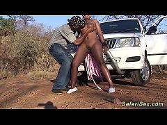 hot chubby african babe fucked at my safari