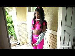 Ebony teen fuckdoll Kandie Monae gets smashed r...