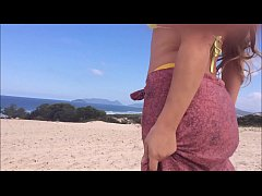 My wife shows off in the beautiful landscapes o...