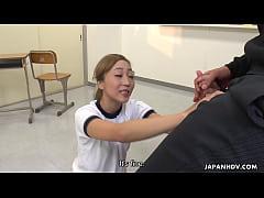 Japanese girl, Reira Sakurai, sucks dick, uncen...