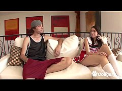 Cheerleader Emily Grey Gets A Big Messy After S...
