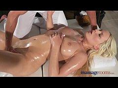 Massage Rooms Czech blonde with big natural tit...