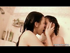 Hot Lesbian Babe Invites Girlfriend Into Shower...