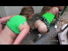 Oral sex foursome amateur party outdoor