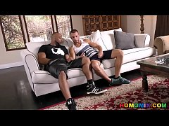 White guy has homo adventure with his black nei...
