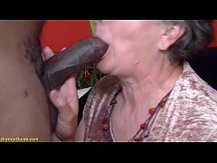 busty 80 years old granny first time interracia...