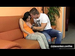 Teen Keira gets nailed and cummed